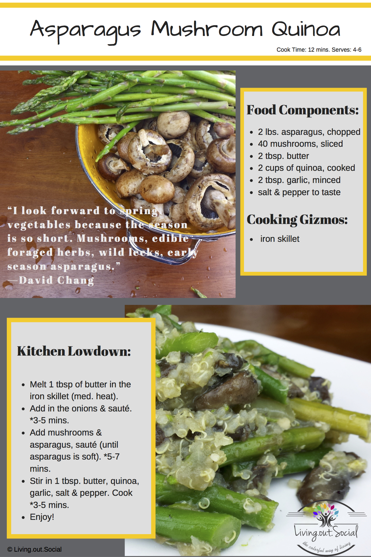 Asparagus Mushroom Quinoa